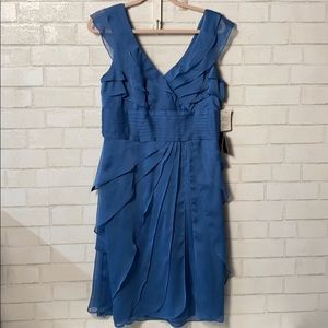 NWT Adrianna Papel Dress 12 Tiered blue